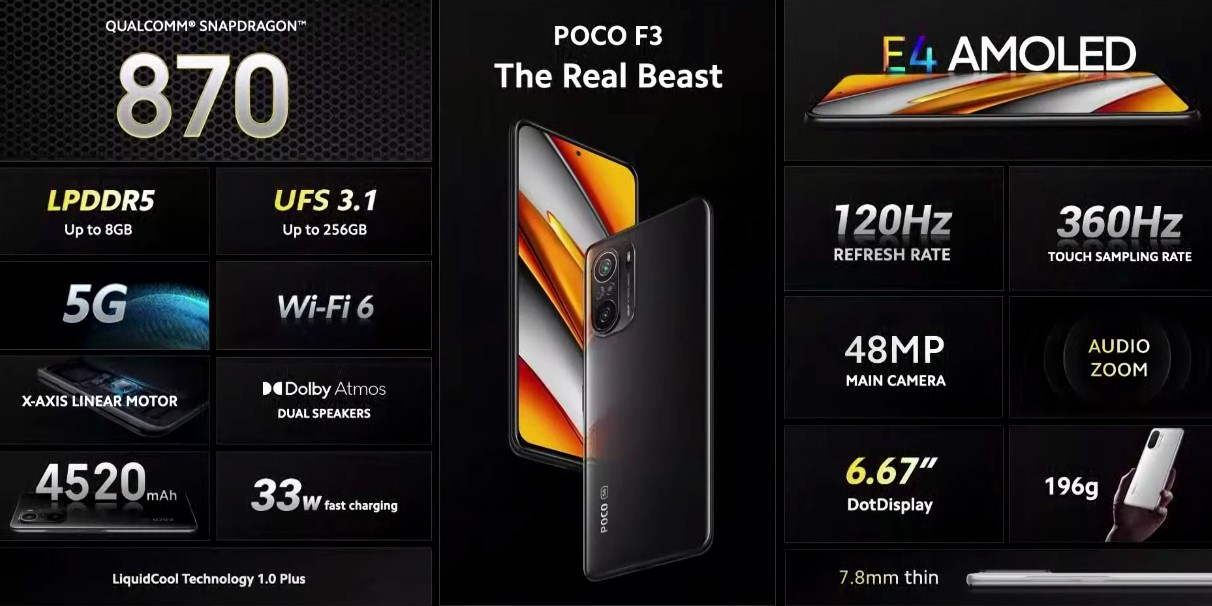 POCO F3 price and features