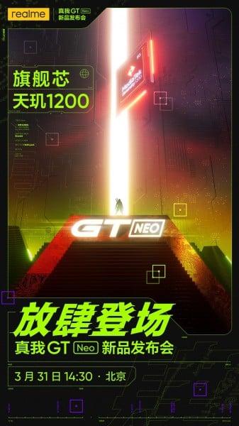 Realme GT Neo tanıtım tarihi