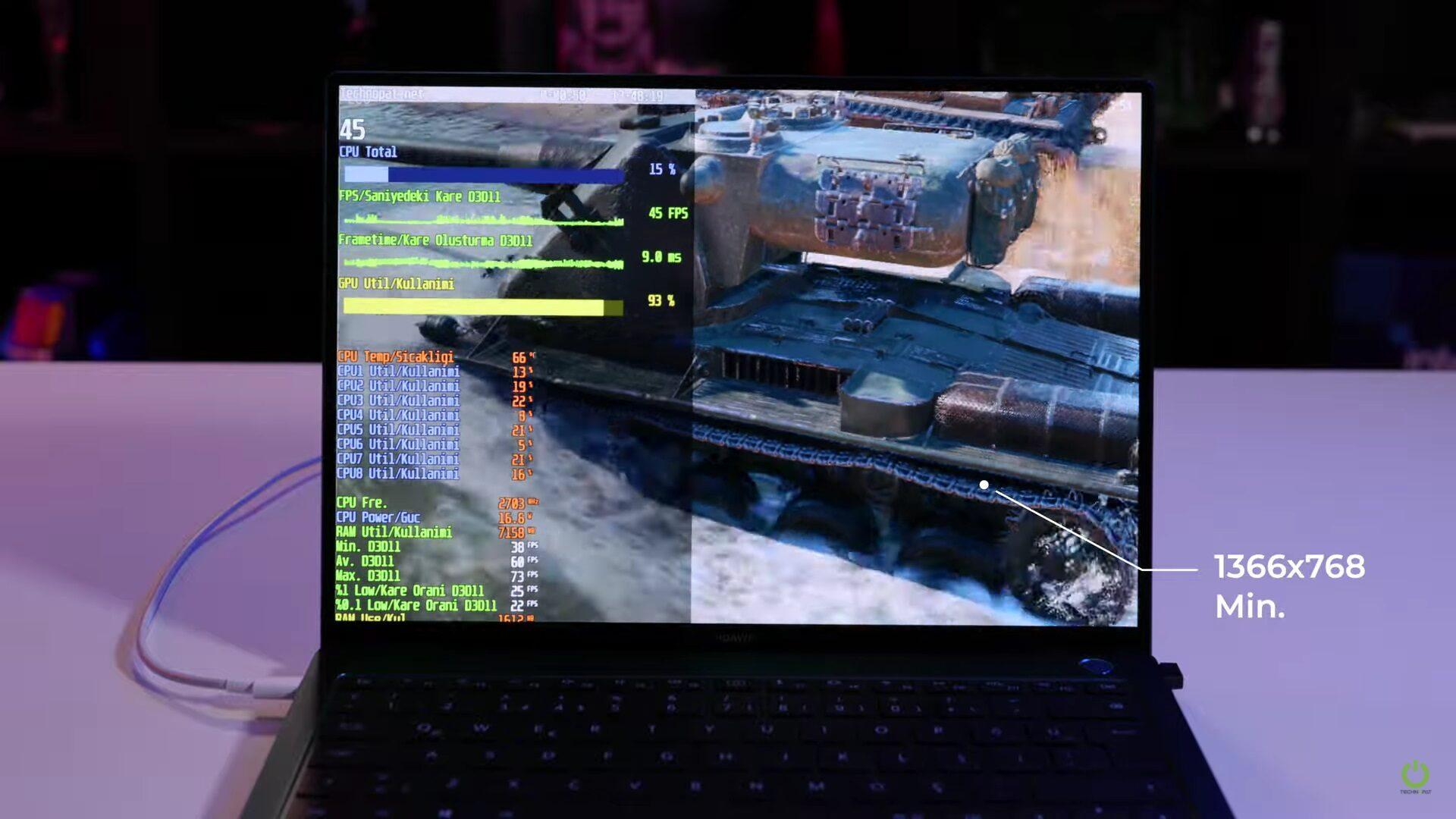 MateBook X Pro 2021 Oyun Performansı