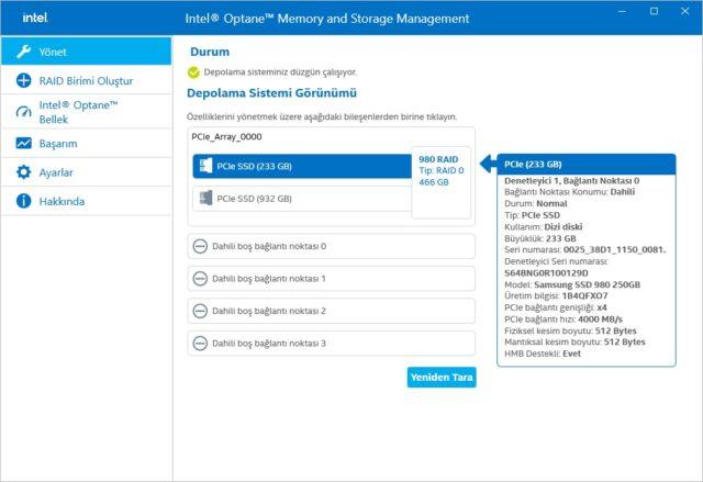 Intel Optane Memory and Storage Management