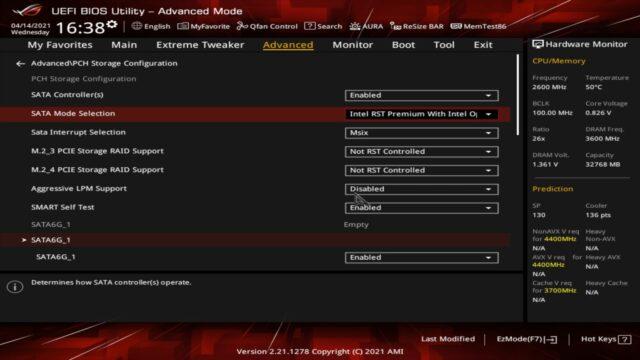 NVMe SSD RAID BIOS Ayarları