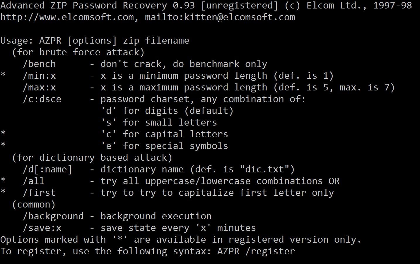 Advanced Zip Password Recovery Şifre Kırma Aracı
