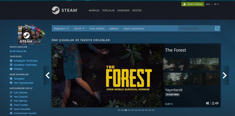Steam account creation - Steam store page