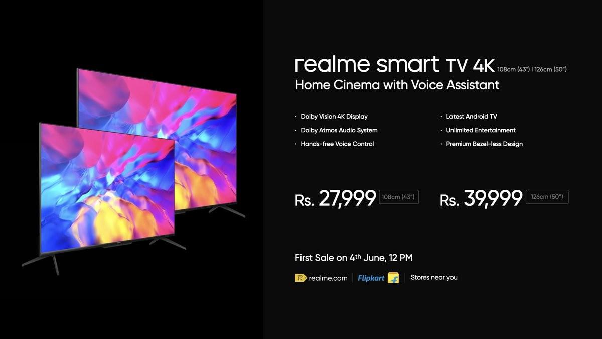 Realme Smart TV 4K fiyatı ve özellikleri
