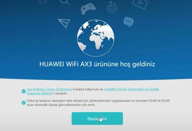 Huawei Wi-Fi AX3 Router - kurulum