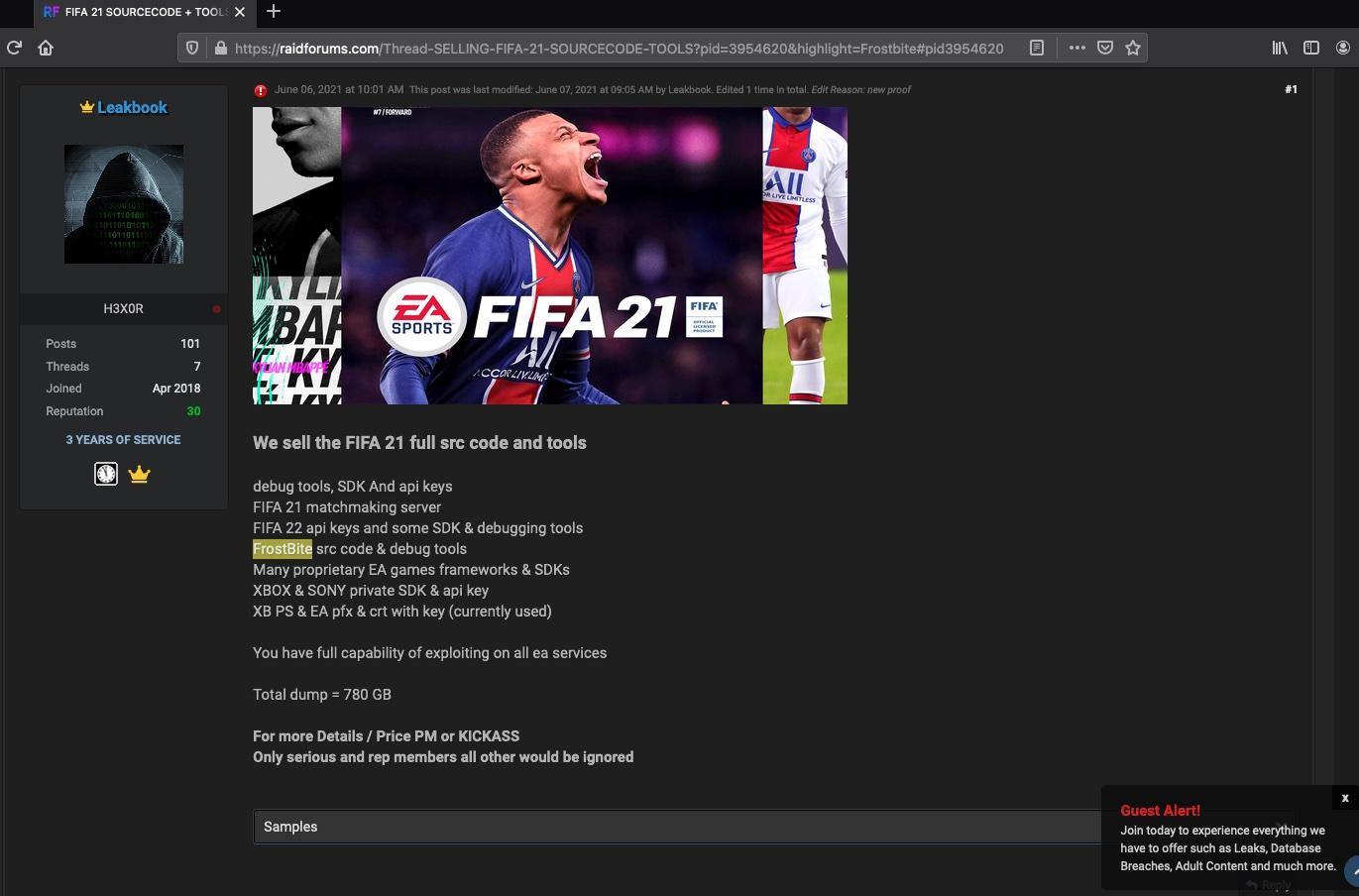 Electronic Arts hacked