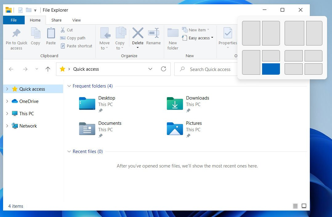 Windows 11 pencere denetimi