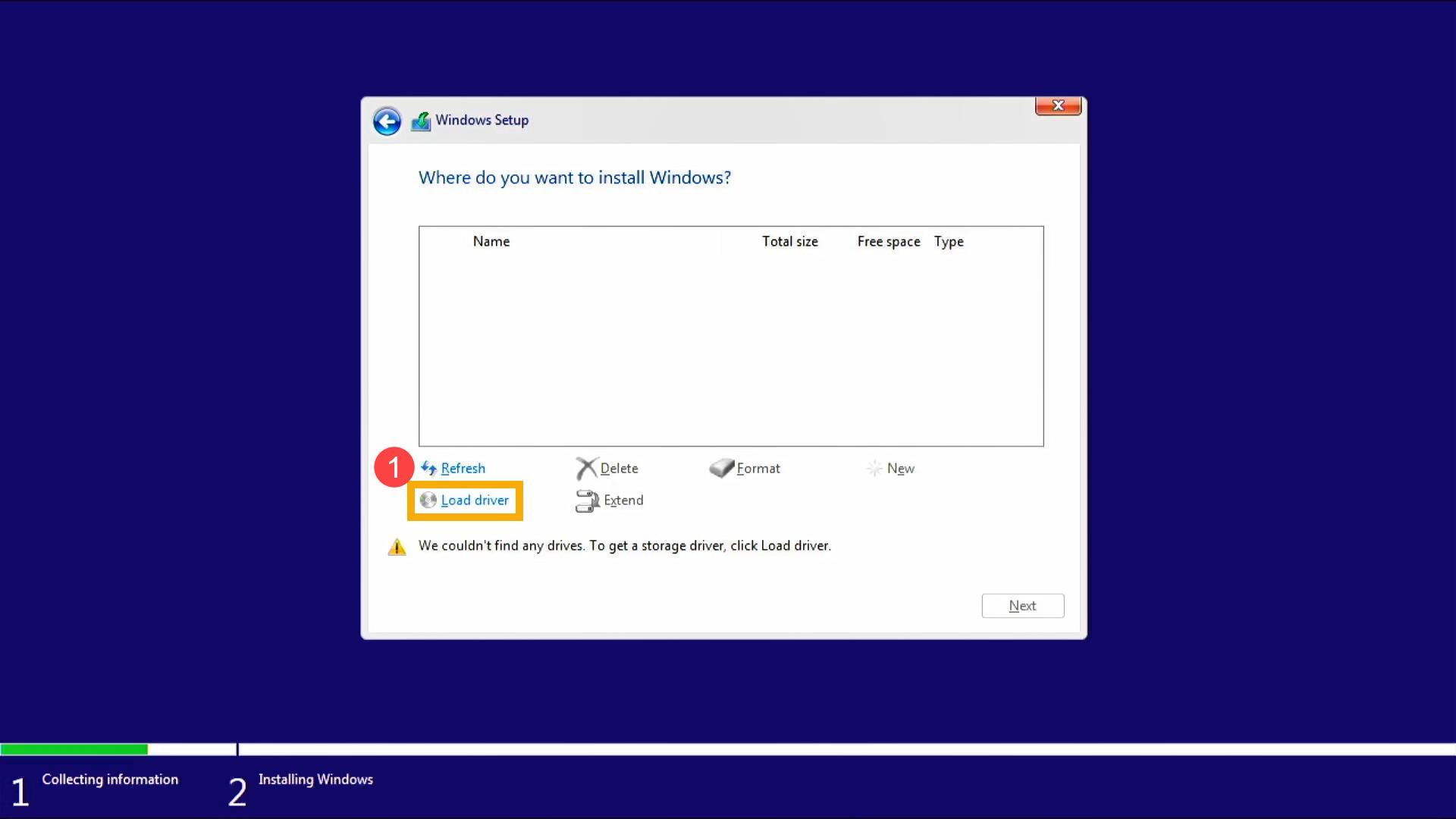 Windows 10 Hiçbir Sürücü Bulunamadı