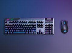 ASUS Republic of Gamers, Claymore II oyuncu klavye ve Gladius III oyuncu mouse