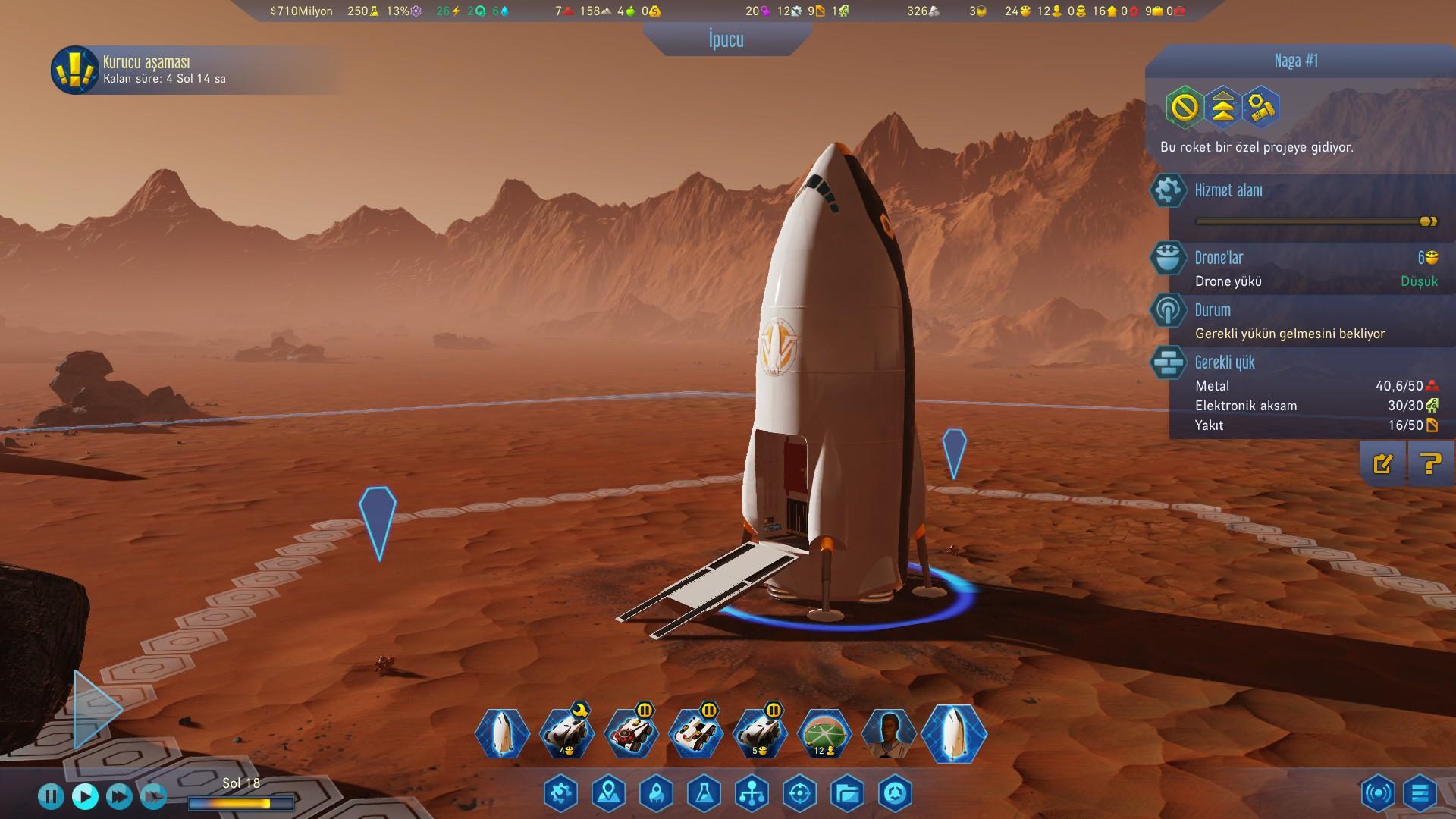 Surviving Mars türkçe dil desteği