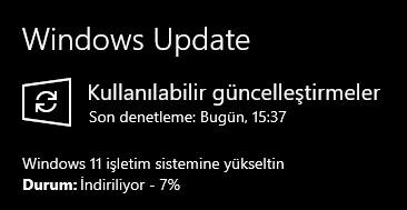 Windows 11 güncelleme
