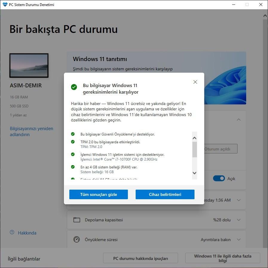 windows 11 uyumluluk aracı