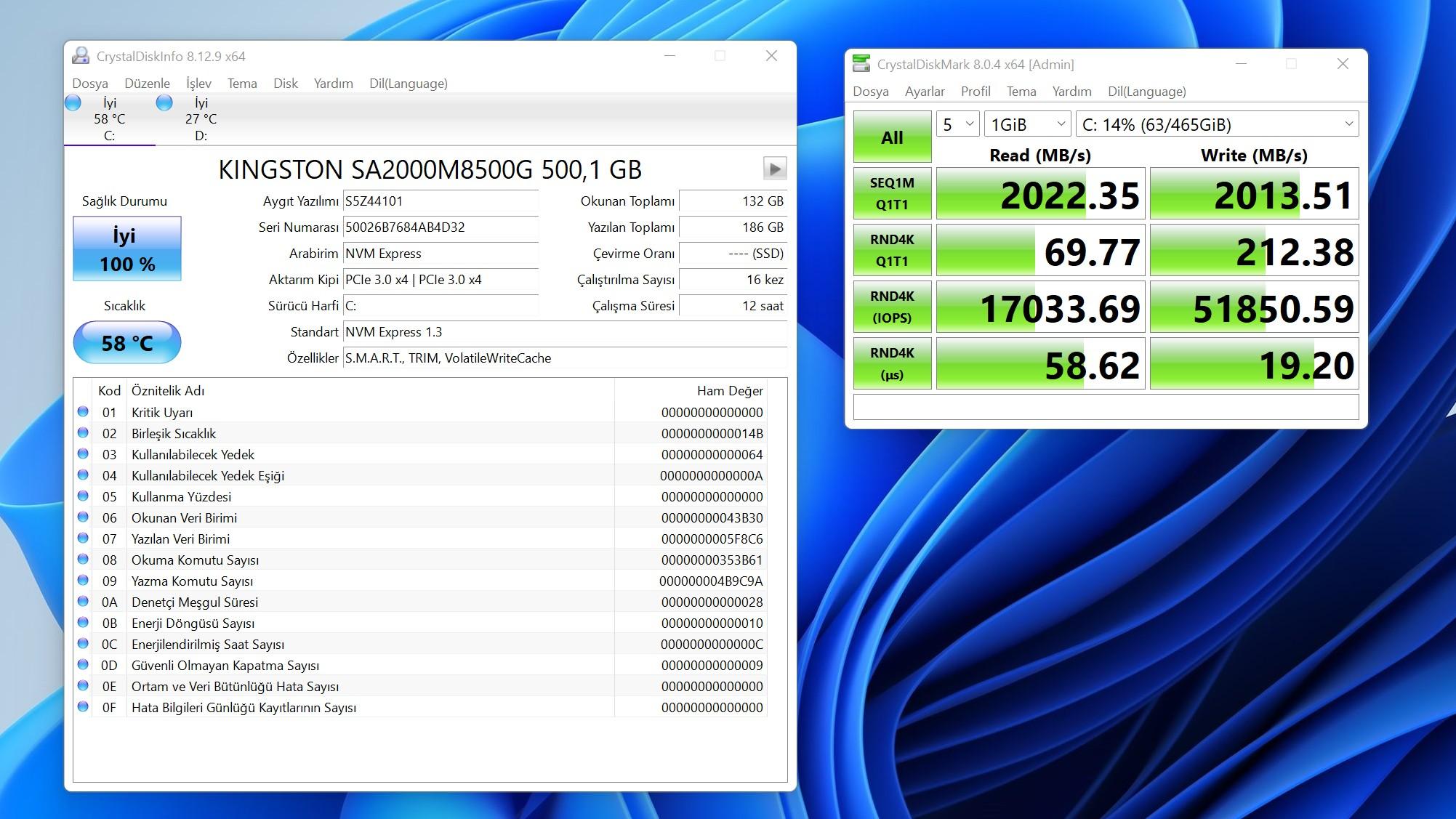 Game Garaj H510 5A-RTX3060Ti Kingston A2000 SSD